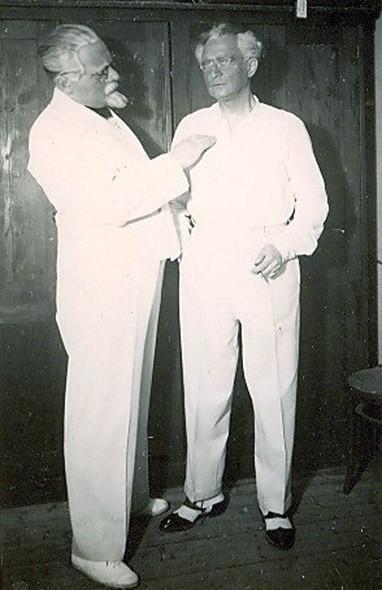 Paul Walter Jacob avec Fritz Kennemann
