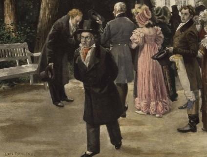 Goethe et Beethoven à Teplitz, tableau de Carl Röhling