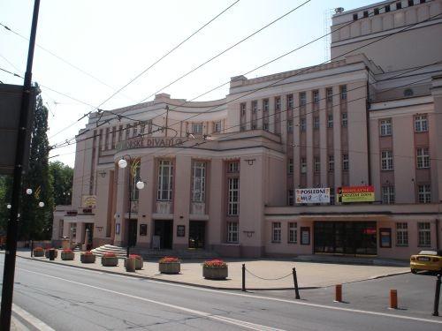 Le théâtre de Teplitz côté rue en 1990