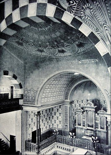 Intérieur de la synagogue de Teplitz